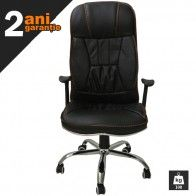 Este un scaun directorial robust, solid, realizat din materiale care ii confera durabilitate.