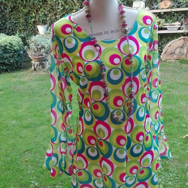 70s psichedelico chic vintage camicia donna