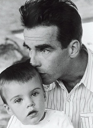 Montgomery Clift with Michael Wilding Jr., Elizabeth Taylor's son... So sweet