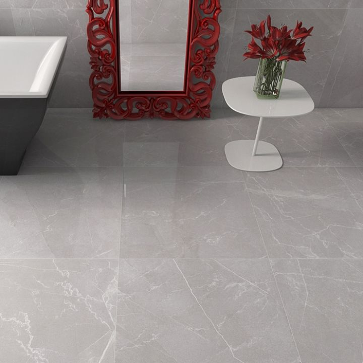 This Stunning High Gloss Tile With Its Large Contemporary Size Is A Perfect  Choice For Stylish · Grey Floor ...