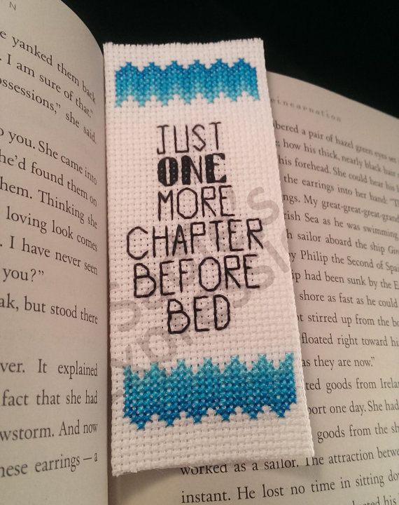 Cross Stitch Bookmark Just One More Chapter by SadiesExpressions, $3.00
