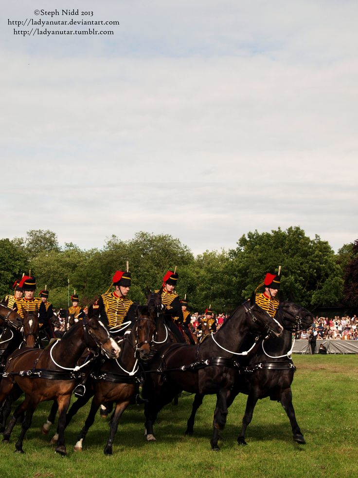 Kings Troop Royal Artillery performing for the crowds