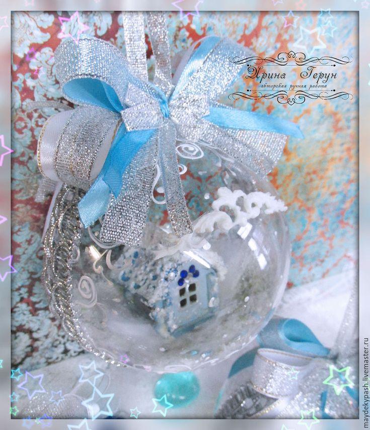 """Купить Шары - подвески """"Зимняя сказка"""" - новогодний подарок, новогодний сувенир, новогодний декор"""