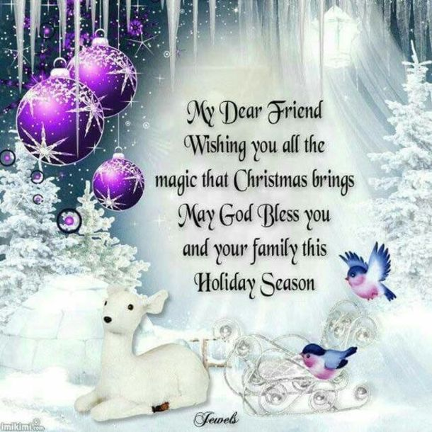 Merry Christmas Friend Images