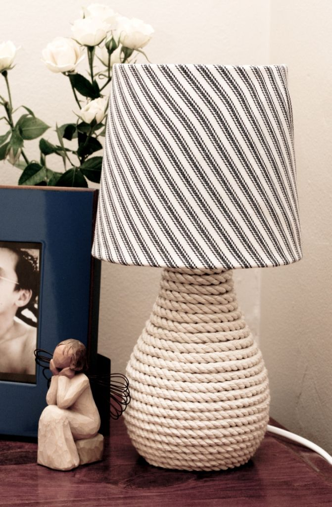 Vintage Lace and Vinyl: Before & After: Nautical Lamp