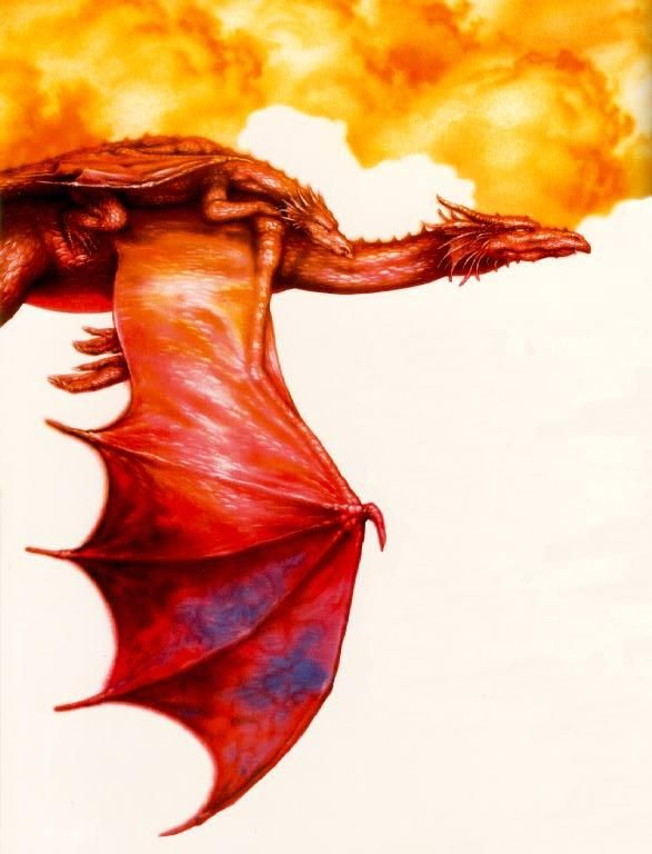 flying red dragon - Dragon pictures gallery