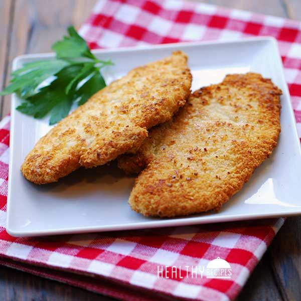 Gluten Free Chicken Tenders/ 1 pound raw chicken tenders (8 tenders) 2 large eggs 1 teaspoon kosher salt ¼ teaspoon black pepper 1 teaspoon garlic powder 1 teaspoon onion powder 2 cups almond meal (you'll only use about 1 cup, but you need 2 cups to properly dredge) ¼ cup olive oil for frying
