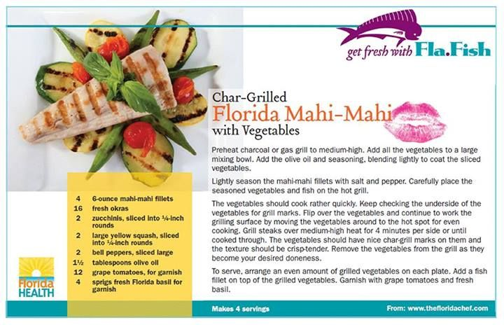 Char-Grilled Florida Mahi-Mahi with Vegetables from @Florida Agriculture