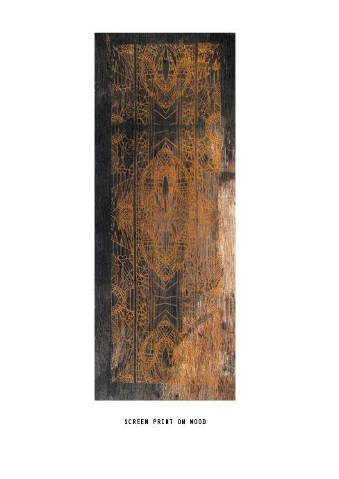 Screenprint on Wood.: 488690 Pixel, Screenprint Secret