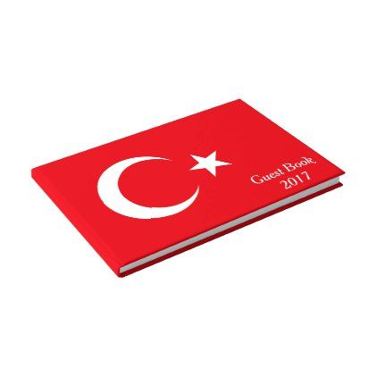 Flag of Turkey Guest Book - diy cyo customize create your own personalize