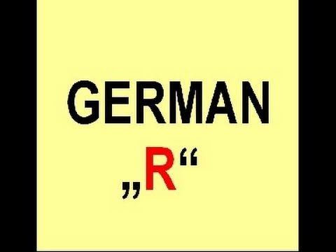 """How to pronounce the german """"R"""" (+playlist)"""