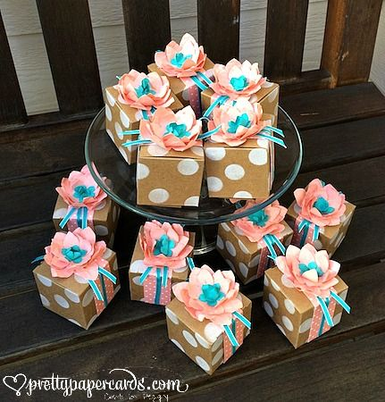 Stampin' Up! new Tiny Treat Boxes! #favors #stampinup #prettypapercards