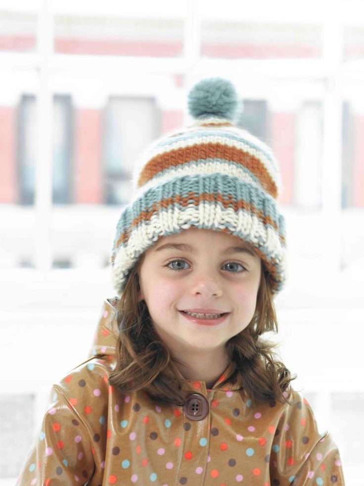 Knitted Greenwood stripe Hat in chunky Lion Brand Alpine Wool! Download FREE ...