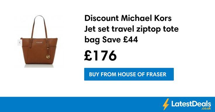 Discount Michael Kors   Jet set travel ziptop tote bag Save £44, £176 at House of Fraser