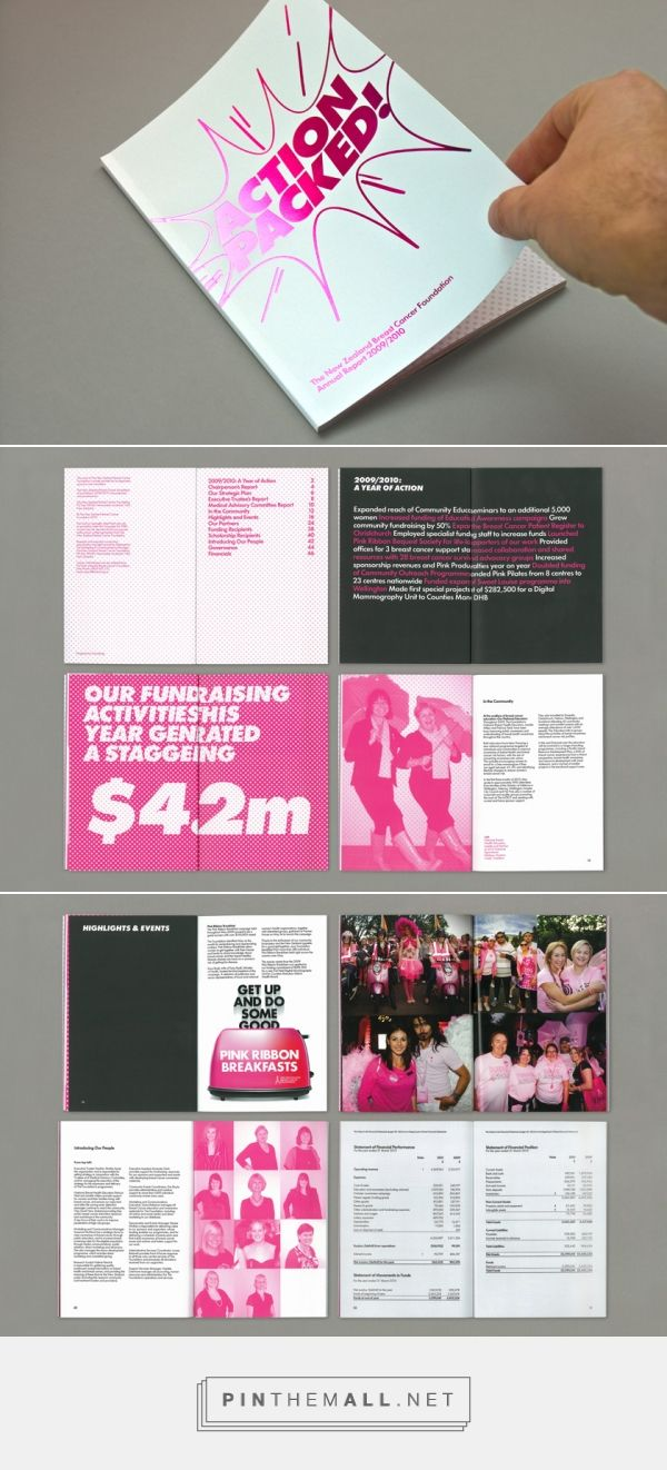 The New Zealand Breast Cancer Foundation. Annual Report 2010 designed by Everything Design. Auckland, New Zealand.... - a grouped images picture - Pin Them All