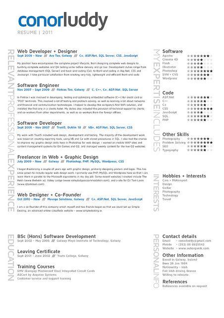 Resume 2011 by ConorLuddy, via Flickr