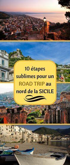 Partons à la découverte de la côte nord de la Sicile. Ce fabuleux road trip vous mène par les sites mythiques de Palerme, Monreale, Cefalù, Messine, Taormina, l'Etna et Catane. #Sicile #Italie #Etna #volcan #Palerme #Messine #Catane
