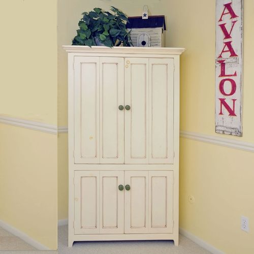 Pantry Cabinet: Tall White Pantry Cabinet with Furniture on ...