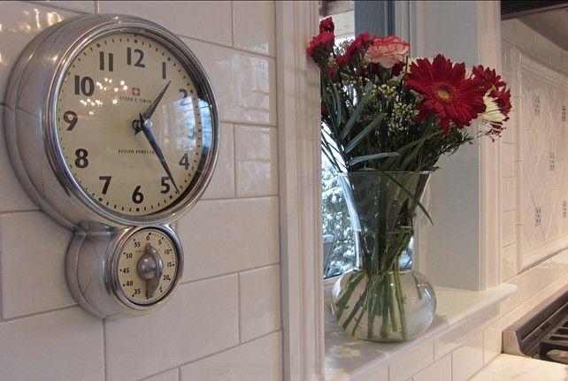 Kitchen Decor Ideas. The clock in this kitchen is the Bengt Ek Wallclock & Timer. #KitchenDecor #Wallclock