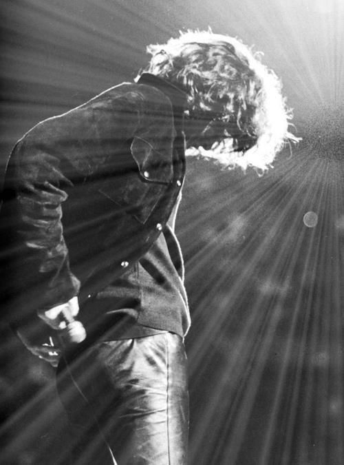 Jim Morrison The Doors.  Nobody before or since has rocked leather the way the Lizard King did!