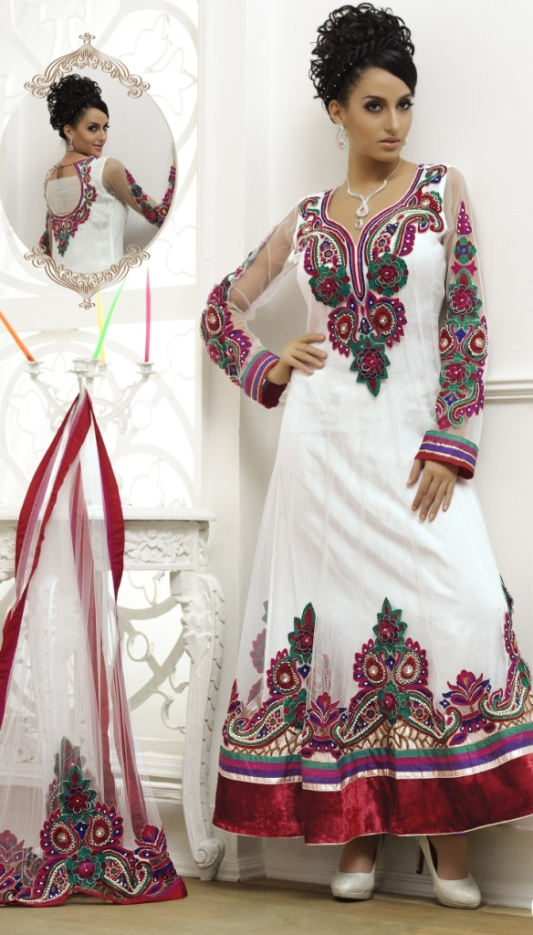 Ethnic Suit-embroided and in net