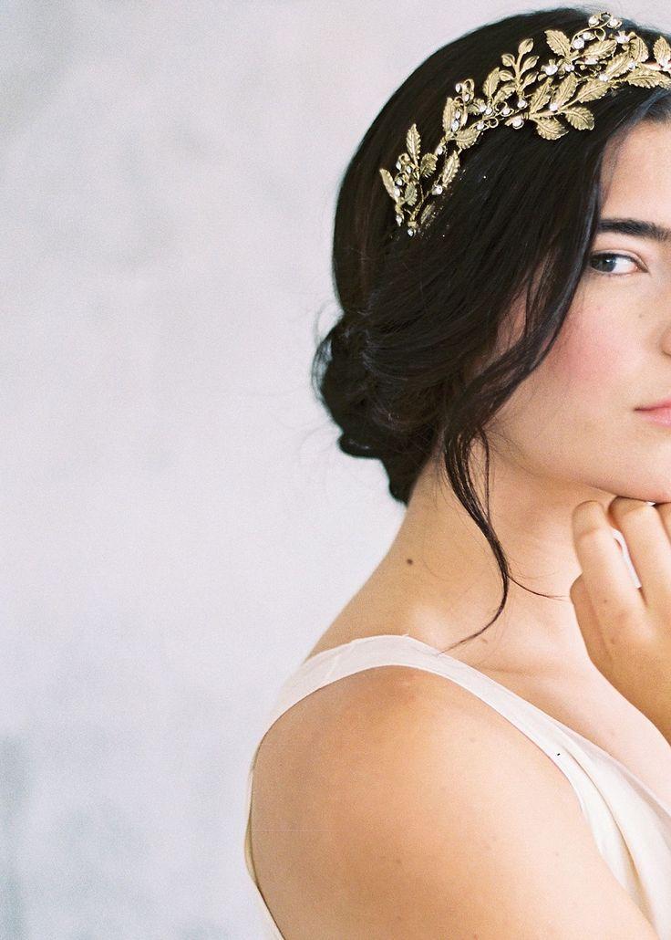 Best Bridal Inspiration  . accessories: Maggie Wu Studio  / photography: Sally Pinera Photography  / hair & makeup: Be.NYLA  / calligraphy: Seniman Calligraphy  / dresses: Shop Gossamer / florals: Running Wild Florals  http://whitewren.com/artist-feature-maggie-wu-studio/