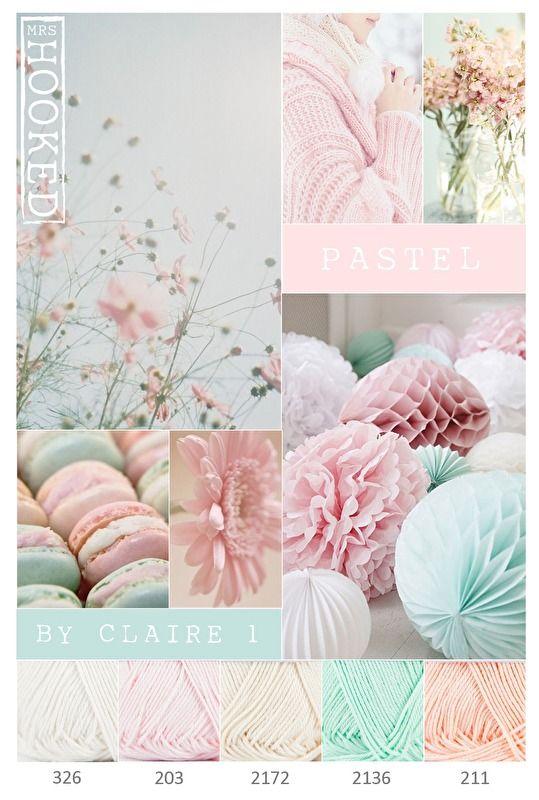 ❤ =^..^= ❤    Pastel tinten | Kleurinspiratie | MrsHooked                                                                                                                                                                                 More
