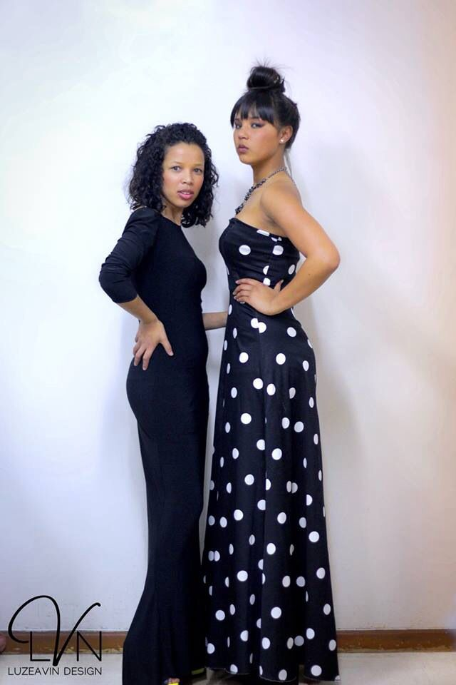 Black and White Dotted dress made and design by Luzeavin Design