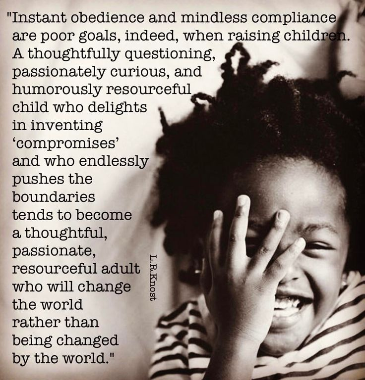 """61 Likes, 1 Comments - L.R. Knost (@lrknost) on Instagram: """"""""Instant obedience and mindless compliance are poor goals, indeed, when raising children. A…"""""""