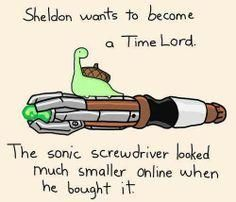 A few of my favorite things: the name Sheldon, tiny things, dinosaurs, and Doctor Who