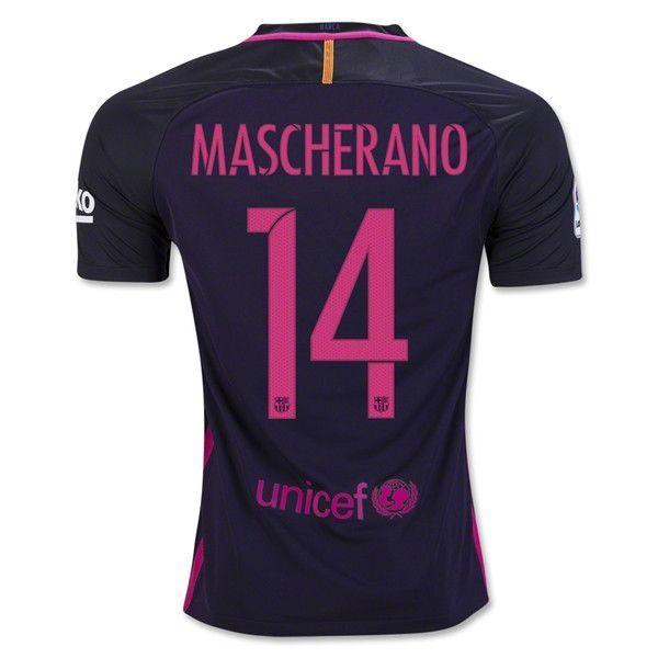 2f7fe3a35e5 womens 2015 2016 barcelona thailand soccer jersey 14 mascherano
