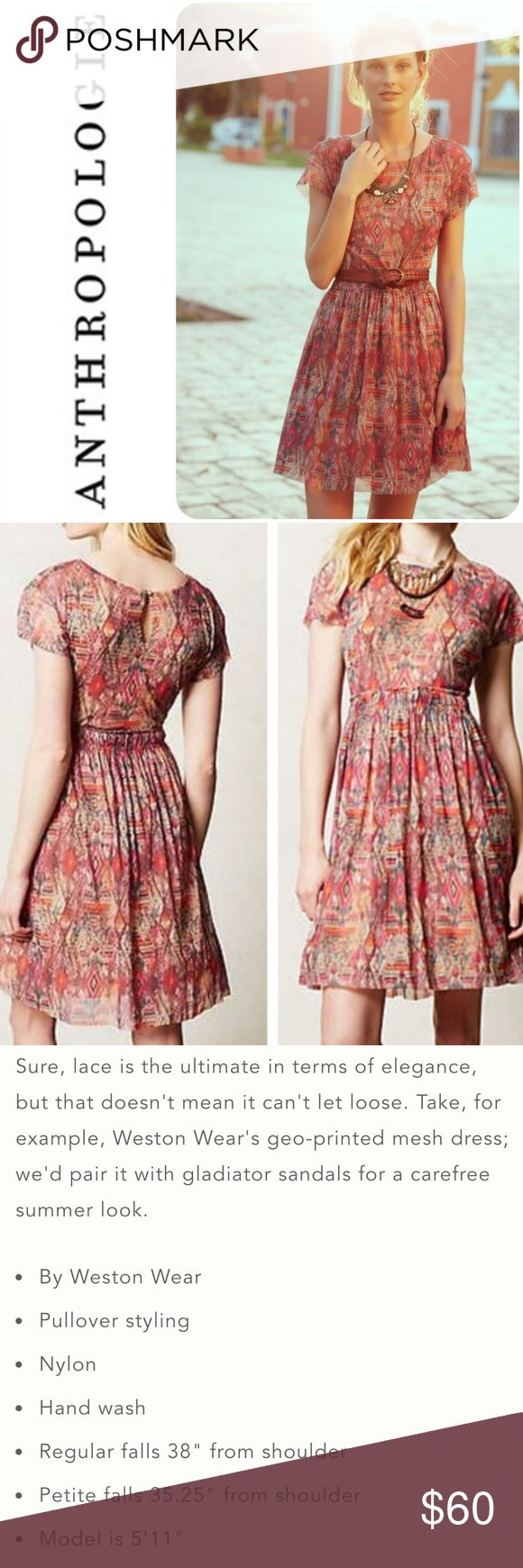 🌺New! Weston Wear Simi Mesh Dress Like new condition. More pics and details to follow Anthropologie Dresses