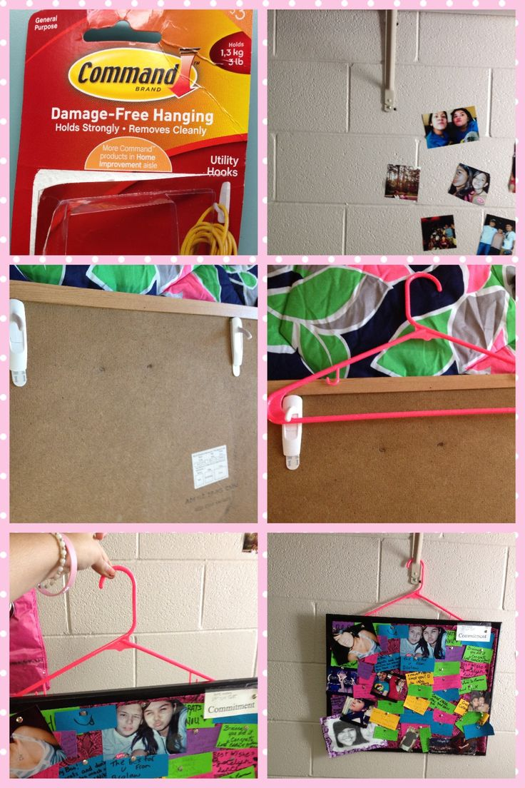 165 best dorm and college life images on pinterest college life another way to hang a bulletin board in your dorm without putting holes in the wall amipublicfo Image collections