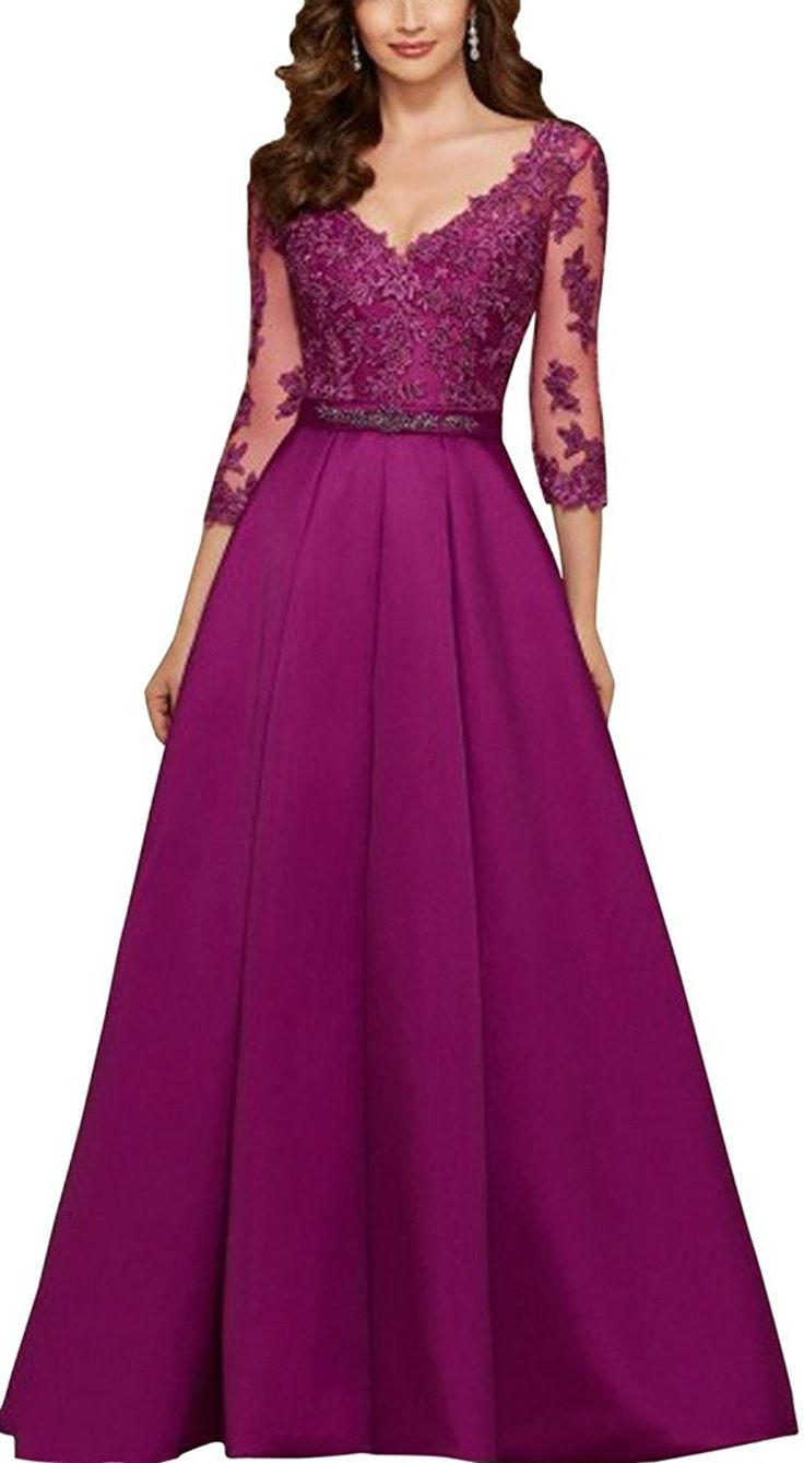 Dressyonly Women's Mother of the Bride Dresses With 3/4 Sleeve ** Awesome product. Click the image : Mother of the Bride