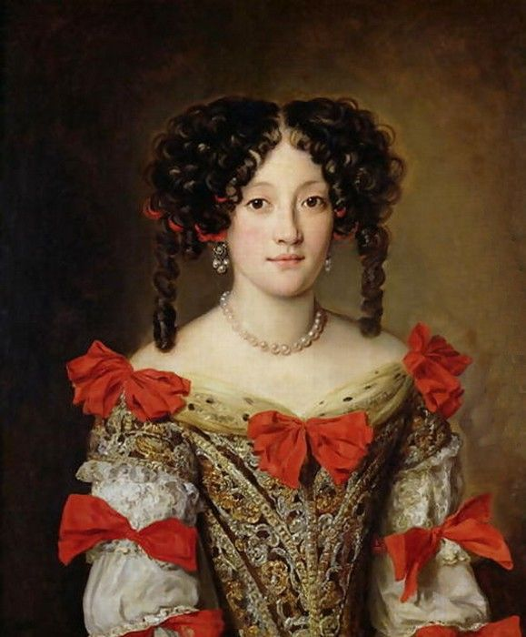 "Marie Mancini; by Jacob Ferdinand Voet. King Louis XIV had a huge crush on Marie and even wanted to marry her. Her family did not want the match and sent her away to marry the Italian prince, Lorenzo Onofrio Colonna, who remarked after their wedding night that he was surprised to find her still a virgin. The bridegroom had not expected to find, ""innocence among the loves of kings."""