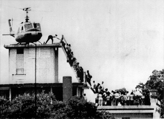 Last day of Vietnam War, the fall of Saigon, ca 04/29/1975