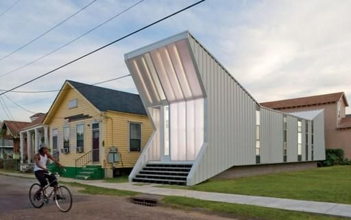 Designed by architect Will Crooker, as affordable housing in post Katrina New Orleans