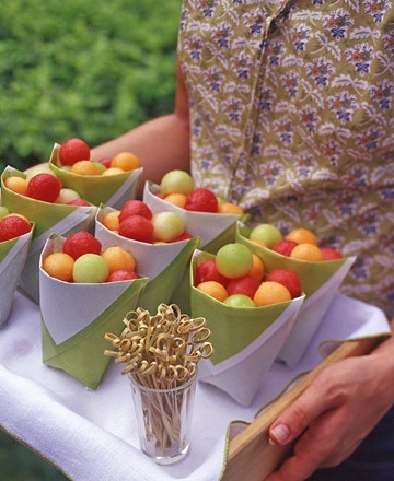 Melon balls as a healthy snack. The ladies will thank you!