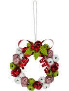 Retro Jingle Bells Wreath Orn $7.46 #chistmas #djschristmas #wowstartsnow #interior #decor #wreath