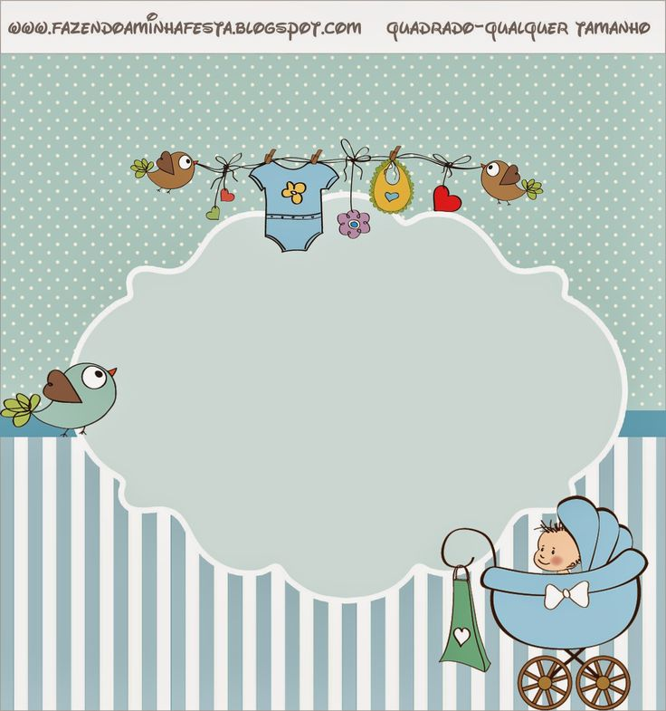 Baby in Light Blue: Free Printable Candy Bar Label.