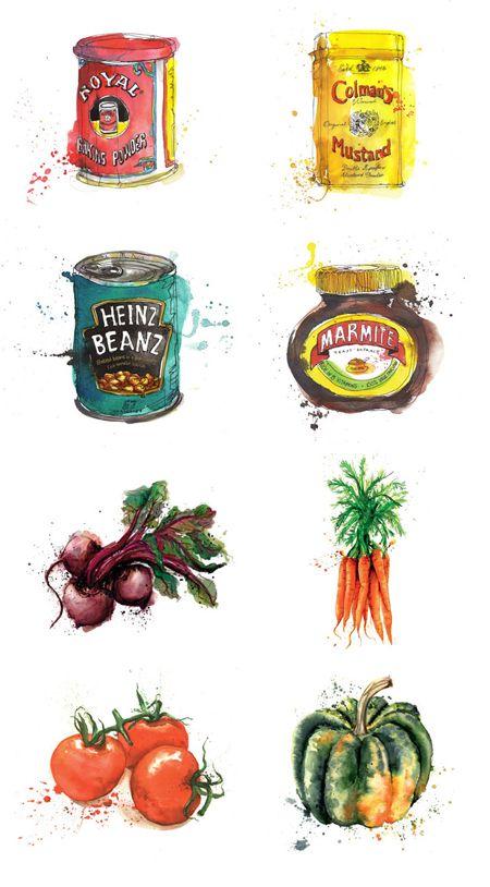 Watercolour inpiration - Georgina Luck.