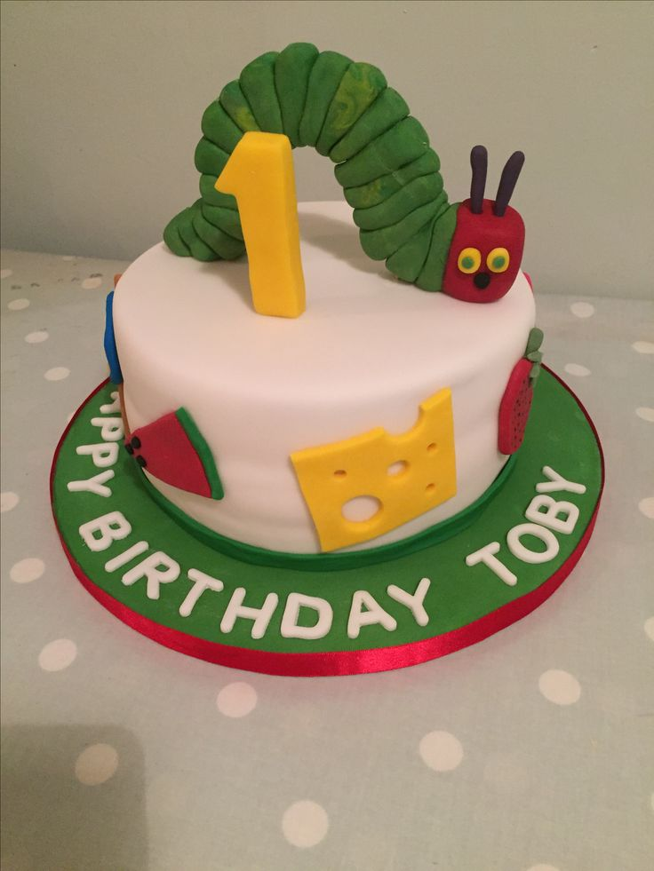 Hungry Caterpillar cake for Toby's 1st birthday