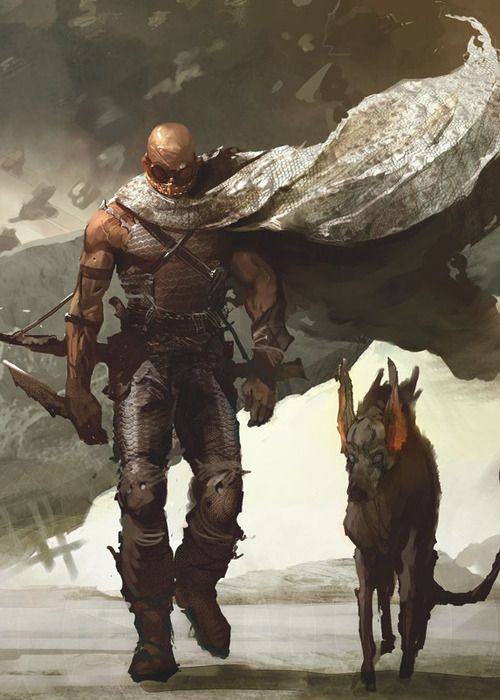 5/14/14  11:04p  Chronicles of Riddick: Traveling Companion ''Beast''  Escape  an Ice Storm  His Cape flies in brutal Winds, torn and shredded.