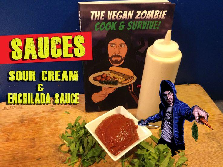 Cashew Sour Cream & Enchilada Sauce Recipe   The Vegan Zombie