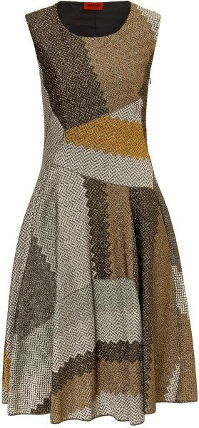 Missoni Brown Metallic Sheath Dress | The House of Beccaria~