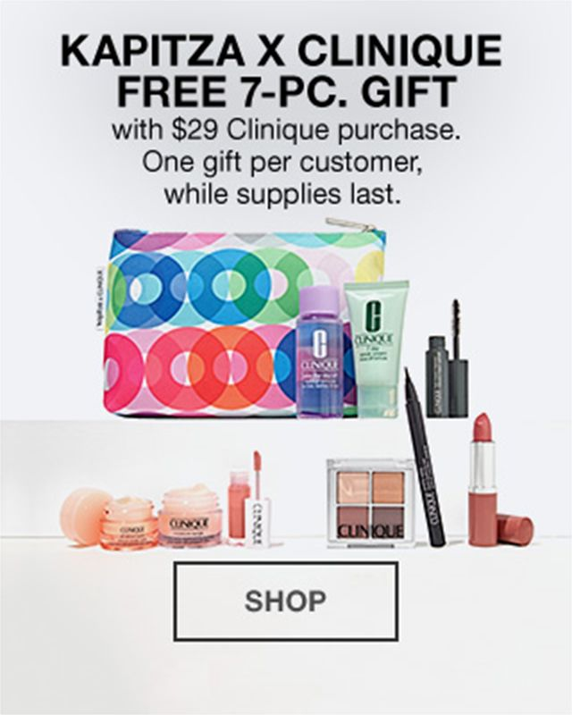 Kapitza X Clinique Free 7 Piece Gift With 29 Clinique Purchase