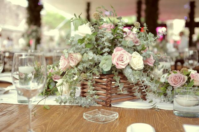 Centro de mesa vintage rustico boda rustica andrea - Centro de mesa rustico ...
