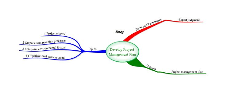 Mind Map Of Pmp Exam  Planning Process Group Process  Develop