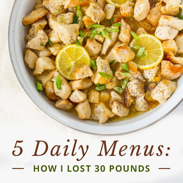 A personal Skinny Ms. story about a 30 pound weight loss--5 Daily Menus: How I've Maintained My Ideal Weight for 5 Years