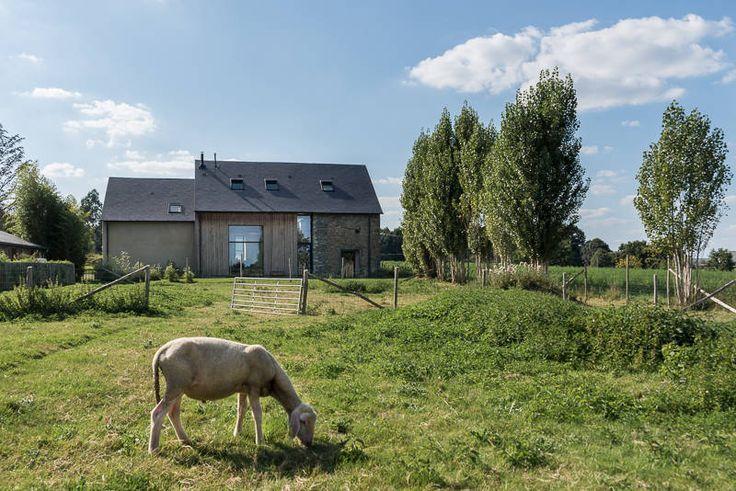 Façade ouverte sur la campagne : Landhäuser von Briand Renault Architectes